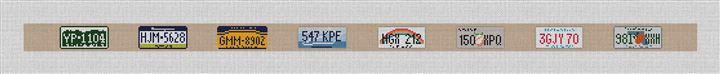 License Plate Needlepoint Belt Canvas