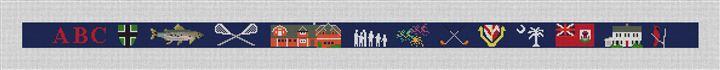 Life Treasures Custom Needlepoint Belt Canvas