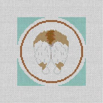Light Brown Corgi Backside Needlepoint Canvas