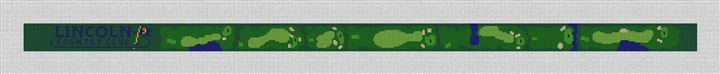 Lincoln Country Club Needlepoint Belt Canvas