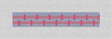 Lineaux Needlepoint Key Fob Canvas