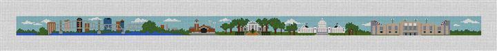 Little Rock Arkansas Needlepoint Belt Canvas