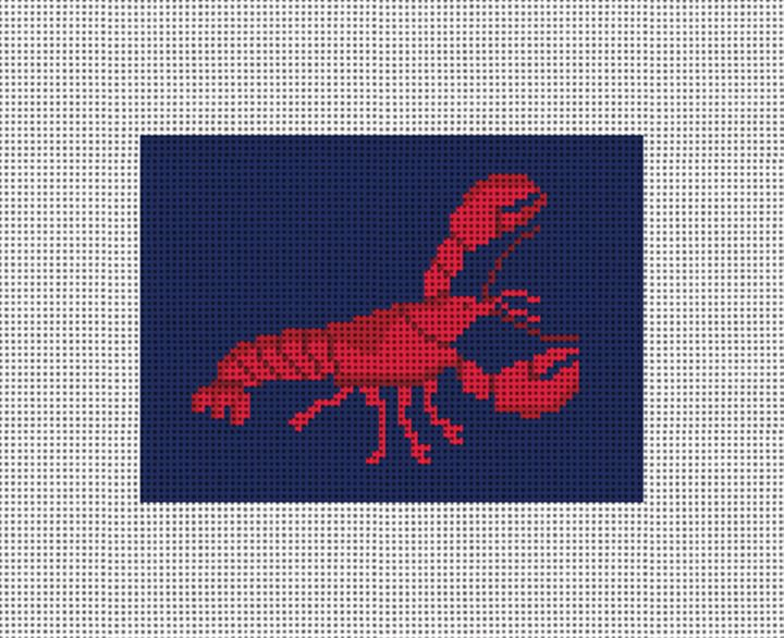 Lobster Needlepoint Card Wallet Canvas