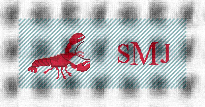 Lobster Needlepoint Flask Canvas