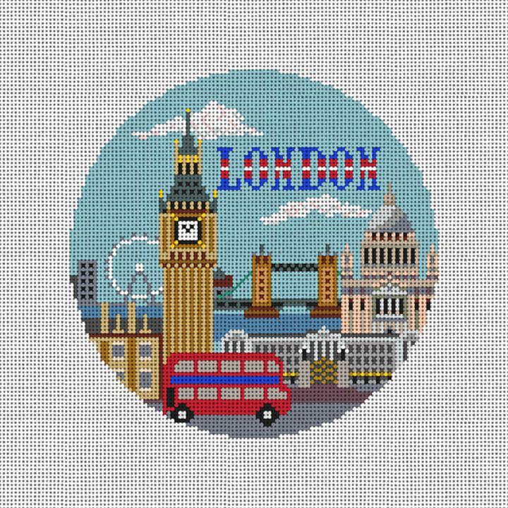 London Needlepoint Ornament Canvas