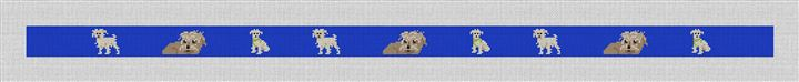 Long Haired Wire Terrier Needlepoint Belt Canvas