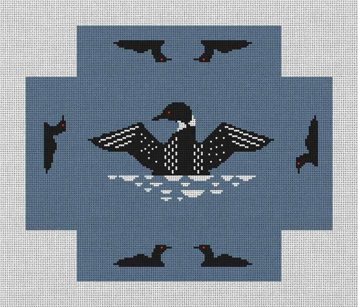 Loon Brick Cover Needlepoint Canvas
