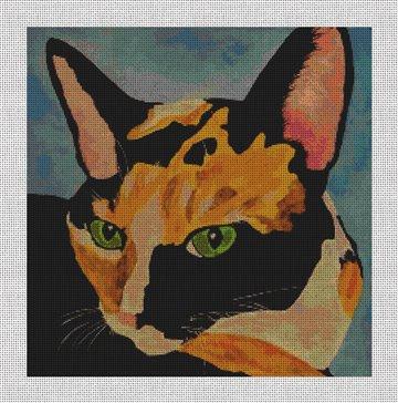 Loretta the Cat Needlepoint Canvas