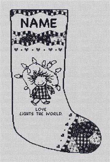 Love Lights the World Needlepoint Stocking Canvas