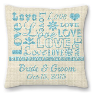 Love Ring Bearer Needlepoint Pillow