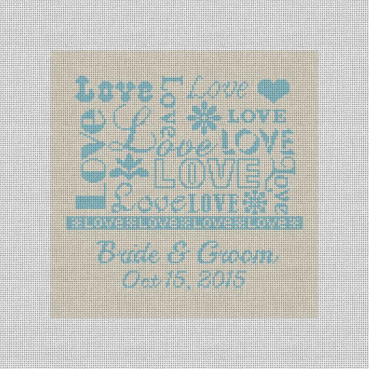 Love Ring Bearer Pillow Needlepoint Canvas