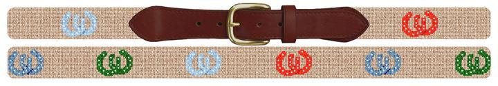 Lucky Horseshoe Needlepoint Belt