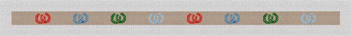 Lucky Horseshoe Needlepoint Belt Canvas