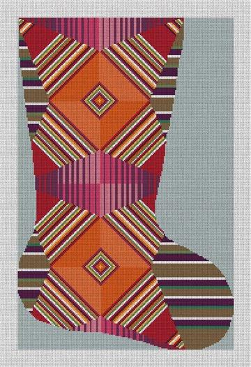 Lydia Christmas Stocking Needlepoint Canvas