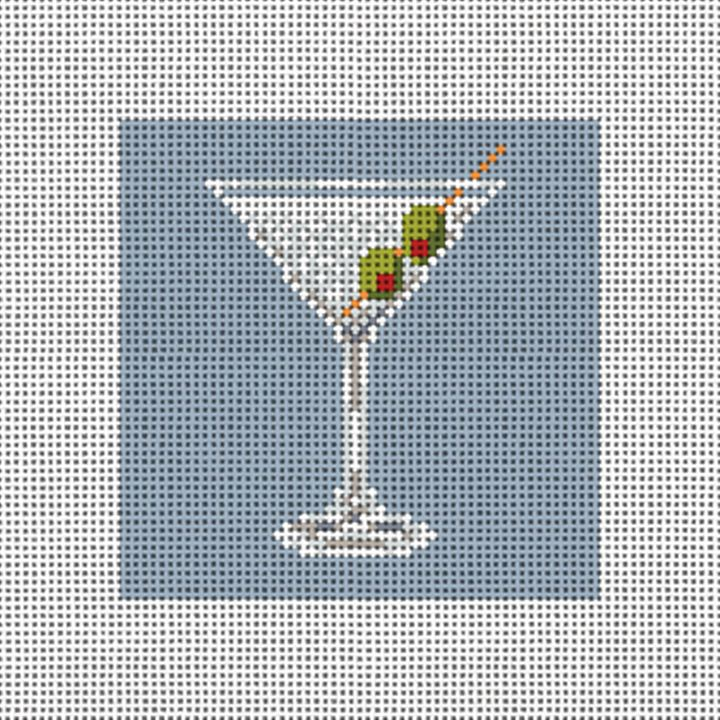 Magnificent Martini Needlepoint Ornament Canvas