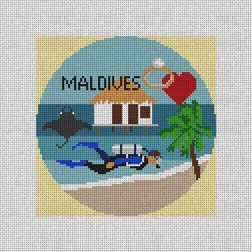Maldives Needlepoint Ornament Canvas