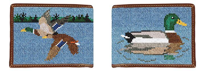 Mallard Landscape Needlepoint Wallet