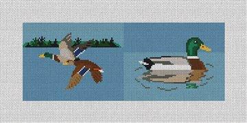Mallard Landscape Needlepoint Wallet Canvas