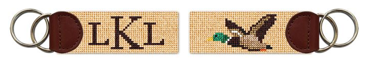 Mallard Needlepoint Key Fob