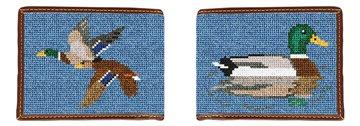Mallard Needlepoint Wallet