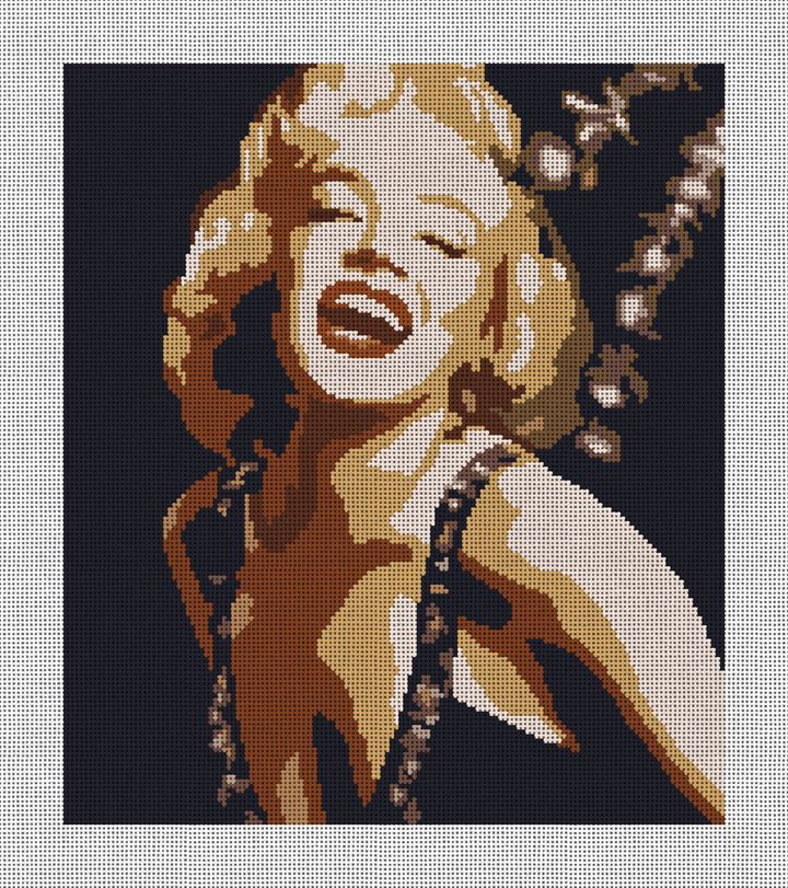 Marilyn Needlepoint Canvas