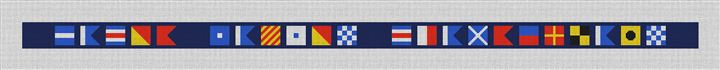 Maritime Signal Flag Belt Canvas