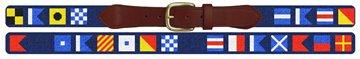Maritime Signal Flag Needlepoint Custom Belt