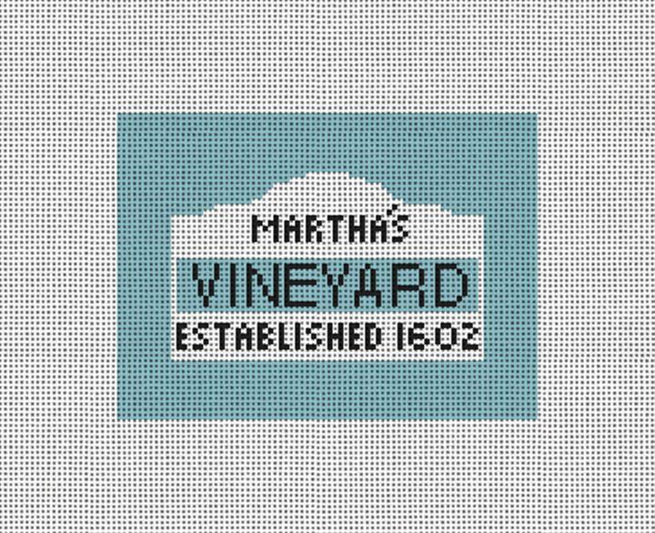 Martha's Sign Needlepoint Card Wallet Canvas