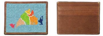 Martha's Vineyard Map Needlepoint Card Wallet