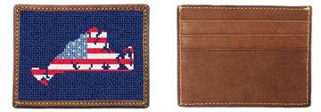 Martha's Vineyard Needlepoint Card Wallet