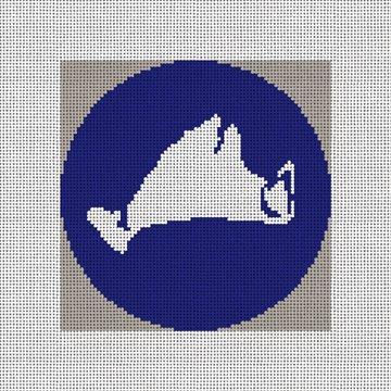 Martha's Vineyard Needlepoint Ornament Canvas