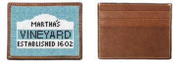 Martha's Vineyard Sign Needlepoint Card Wallet
