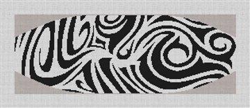 Marvelously Mod Cummerbund Needlepoint Canvas