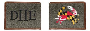 Maryland Crab Flag Needlepoint Wallet