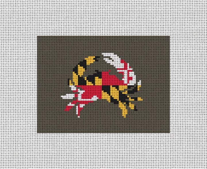 Maryland Flag Needlepoint Card Wallet Canvas