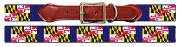 Maryland Flag Needlepoint Dog Collar