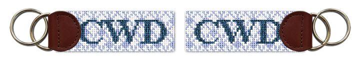 Matelasse Needlepoint Key Fob