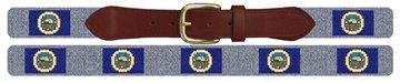 Minnesota Flag Needlepoint Belt