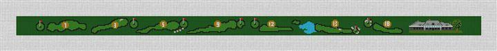 Misquamicut Golf Course Needlepoint Belt Canvas