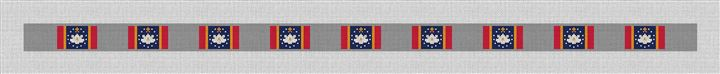 Mississippi Flag Needlepoint Belt Canvas