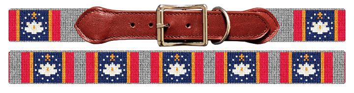 Mississippi Flag Needlepoint Dog Collar