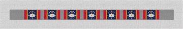 Mississippi Flag Needlepoint Dog Collar Canvas