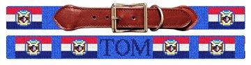 Missouri Flag Needlepoint Dog Collar