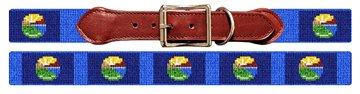 Montana Flag Needlepoint Dog Collar