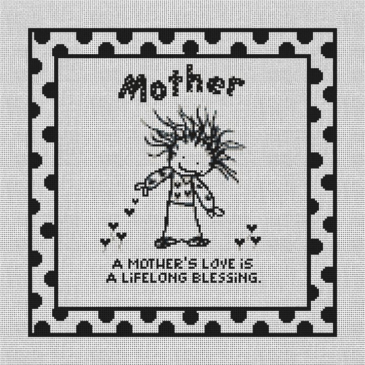 Mothers Love Needlepoint Canvas