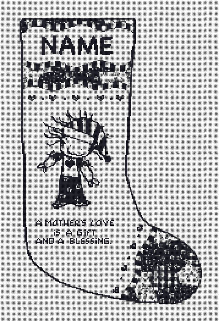 Mother's Love Needlepoint Stocking Canvas