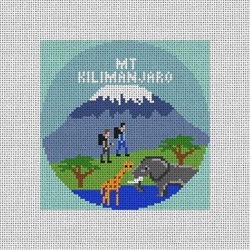 Mount Kilimanjaro Needlepoint Ornament Canvas