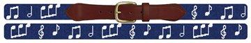 Music Notes Needlepoint Belt