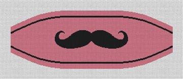 Mustache Cummerbund Needlepoint Canvas