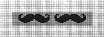 Mustache Needlepoint Key Fob Canvas